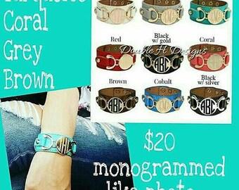 Monogrammed cuff bracelets//women's christmas present