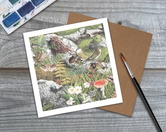 Wildlife Cards - Nature Art - Forest Art - Wildlife prints - Nature Cards - Wildlife Art - Forest Print - Blank Cards