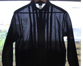 Kenzo Shirt Black Shirt Long Wide Sleeve Shirt Size S
