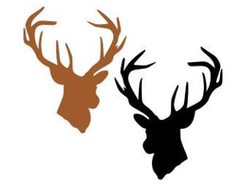 Deer Head; SVG, Studio 3, DXF, AI. Ps, Eps, and Pdf Cutting Files for Electronic Cutting Machines