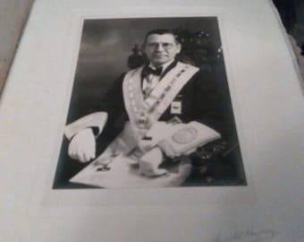Vintage Masonic Photograph