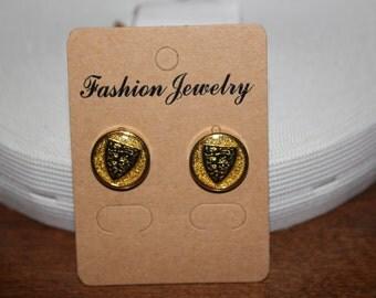 """5/8"""" Button earrings, button earrings, button stud earrings, flat back"""