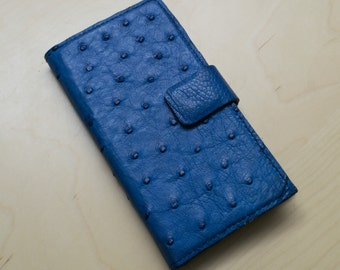 Ostrich Leather Bespoke Flip Phone Case
