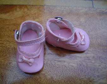 100mm Soft Pink Baby Doll Shoe with Bow detail