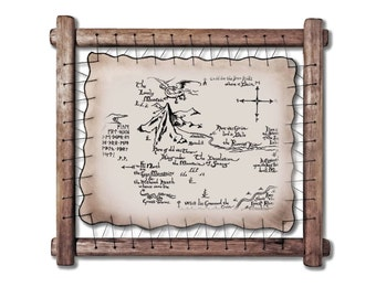 The Lonely Mountain Map Erebor The Hobbit map Smaug Vintage Style Map The Hobbit poster The Hobbit print Map fine art Thor's Map Gendalf Map
