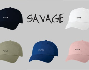 Dad Hat Baseball Cap Embroidered Savage