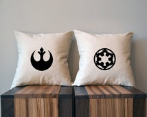 Light Side Dark Side, Star Wars Pillow Cover Set, 18 x 18, Rebel Alliance, Galactic Empire, Star Wars Gift,  Star Wars Decor