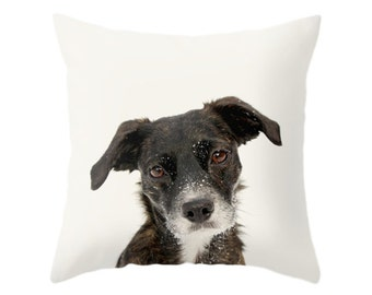 Dog Pillow, Animal Pillow, Nursery Decor, Children Art Decor, Decorative Throw Pillow, Zipper Pillow Cover, Puppy Photo Cushion, Home Decor