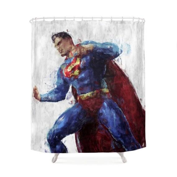 Superman Shower Curtain Hero Character Dc Comics Clark Kent