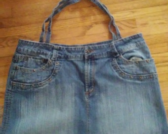 Recycled denim market bag