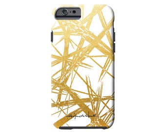 GOLD STROKES faux gold iPhone 7/7 Plus, iPhone 6/6s, iPhone 6/6s Plus, iPhone 5/5s case, Samsung Galaxy S6