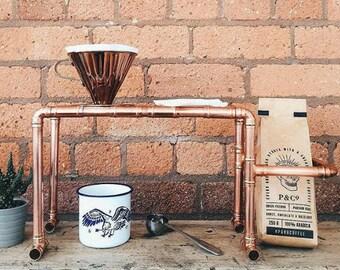 Edition 1: Fait à la main en cuivre Pour-plus-égouttement Stand café