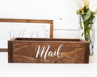 Office Mail Organizer- Mail Holder- Rustic Housewarming Gift- Farmhouse Style- Rustic Bridal Shower Gifts - Gift for Mom - Anniversary Gift