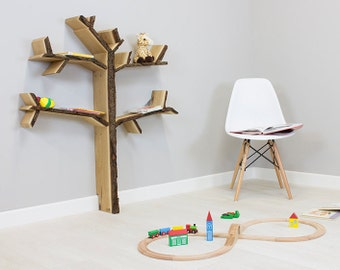 Mini Oak Tree Bookshelf 1.2m high by 1.0m wide - Great for Children's rooms!