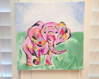 Colorful Elephant Painting