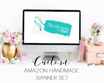 Custom Amazon Handmade shop Banner Set