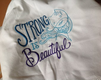 Strong is beautiful Tea towel Hand towel Flour Sack Towel