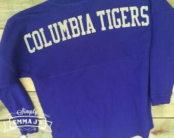 Custom shirt, Spirit jersey, team shirt, long sleeve, tigers, school spirit shirt