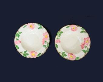 Vintage Franciscan Desert Rose Earthenware Salad/Soup Bowls Set of 2
