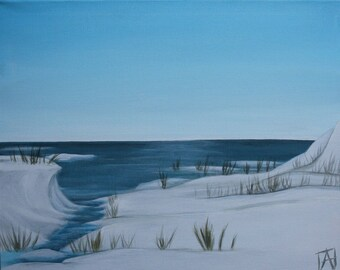 Pure cold - winter painting