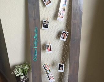 Rustic Chicken Wire Frame/ Rustic Decor/ Farmhouse Decor/ Barnwood Decor/ Wall Decor/ Shutters/ Farmhouse Table/