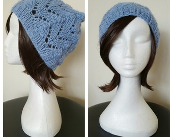 Ladies Pure Wool Beanie (Hand Knitted)