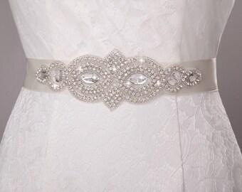 bridal sash rhinestone wedding dress Crystal wedding belt