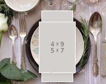 PSD table Card Mockup
