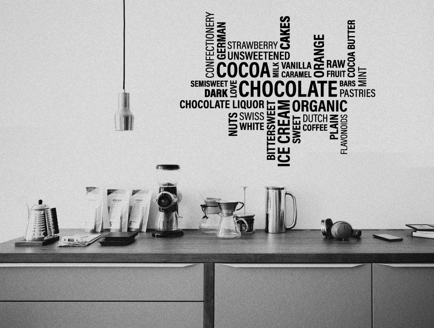 Wall sticker collage words cafe wall decor wall decal zoom amipublicfo Gallery