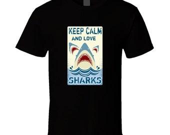 Shark t-shirt. Shark tshirt for him or her. Shark tee as a Shark gift idea. A great Shark gift with this Shark t shirt