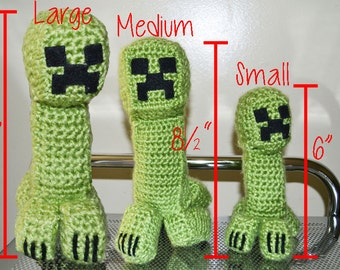 Minecraft Inspired Crocheted Creeper
