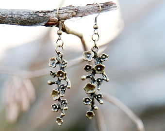 Flower earring Sakura earring Floral earring Branch earring Floral Jewelry Cherry Blossom Wonderful gift for her Floral Jewelry