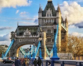 London Photography, Tower Bridge, London Print, Fine Art Photography, London Decor, Landscape, Architecture, Wall Art, Wall Decor, Travel
