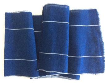 Vintage Kaya Net, Cotton Fabric, Mosquito Net, Indigo Kaya