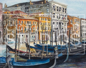 Gondolas, fine art print, wall art