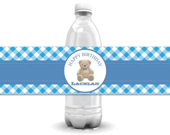 Teddy Bear Birthday, Teddy Bear Party, First Birthday, Teddy Bear Theme, Bear Birthday, Teddy Bear Shower, Teddy Bear Bottle Labels, U Print