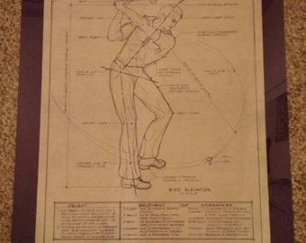 Golf Blue Print Male OR Female