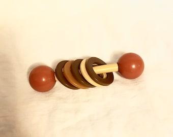 Bakelite Vintage Rattle Baby Toy