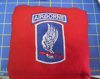 Embroidered 173rd Airborne Brigade Corn Hole Bags ACA/ACO Specs (Set of 4) (your choice of Colors & design)