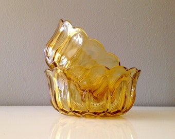 Amber Glass Bowls