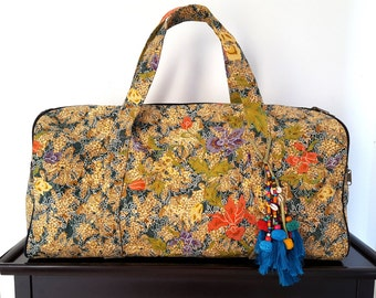 Bohemian Gypsy hippie Travel Bag  Sarong Batik Textile Duffel Travel Bag for Men or Women