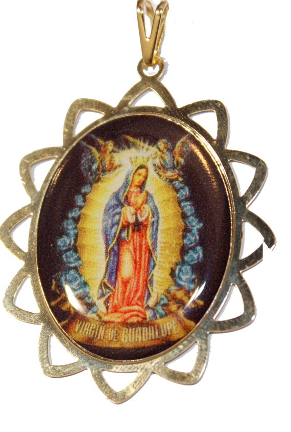 Virgin De Guadalupe Gold Necklace 25