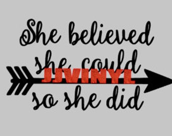 Believed She Could Decal