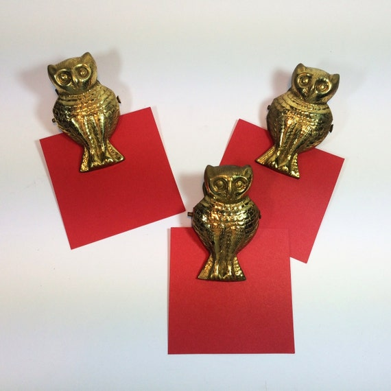 owl paper clips vintage cool