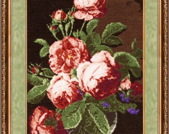 Cross Stitch Kit by Golden Fleece - English Roses