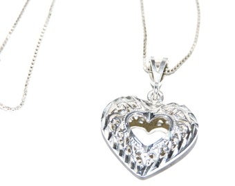 Heart Filigree Sterling Silver Necklace
