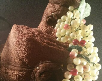 Grooms Towel Cake-Chocolate Brown