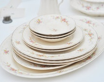 Distressed China, Crooksville China Co., 12-pieces