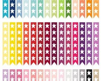 Rainbow Checklist  Planner Stickers