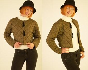 Vintage Fall/Autumn Metallic 70s Jacket/ Women's Jacket/ Small Coat Jacket from Brazil